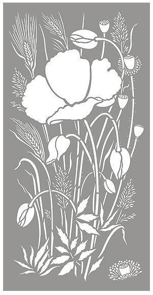 Poppy Pumpkin Stencil 49 Best Nature Stencils Images On Pinterest