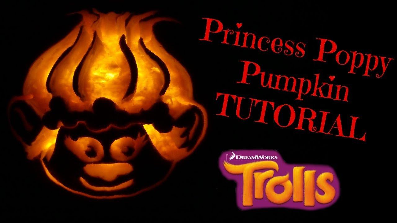 Poppy Pumpkin Stencil How to Carve Pumpkins Make Princess Poppy Trolls