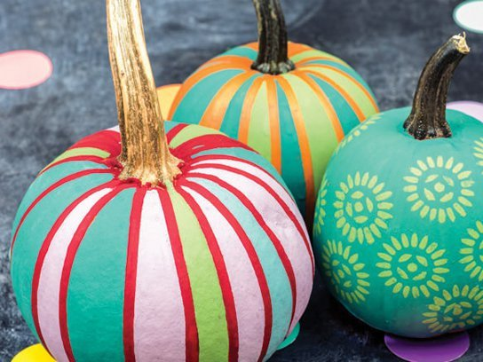 Poppy Pumpkin Stencil No Carve Pumpkin Decorating Ideas
