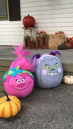Poppy Pumpkin Stencil Polly Troll Pumpkin Halloween Pinterest