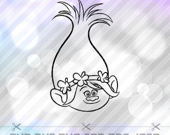 Poppy Pumpkin Stencil Trolls Poppy Vector