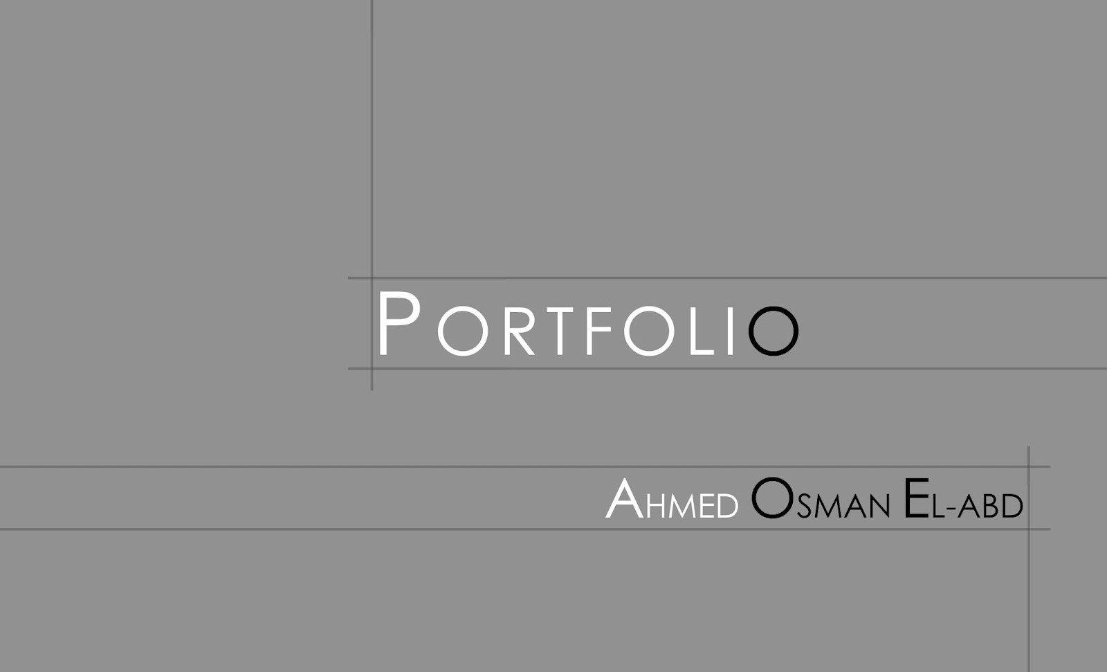 Portfolio Cover Page Template Ahmed Osman Portfolio