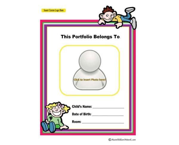 Portfolio Cover Page Template Portfolio Coverpage Aussie Childcare Network