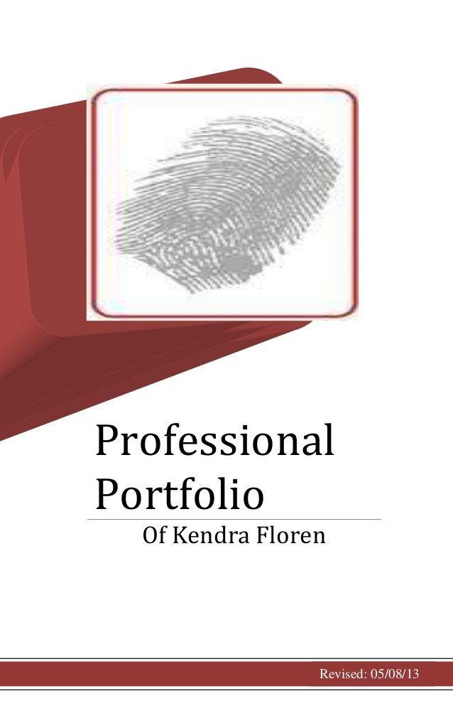 Portfolio Cover Page Template Professional Portfolio Cover Page