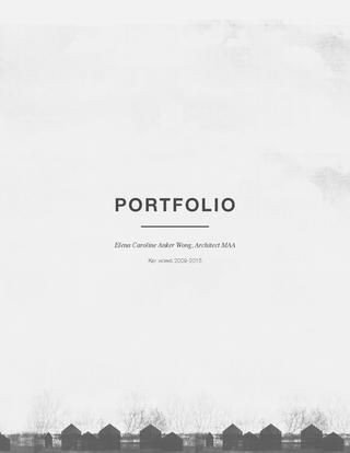 Portfolio Cover Pages Templates Architecture Portfolio