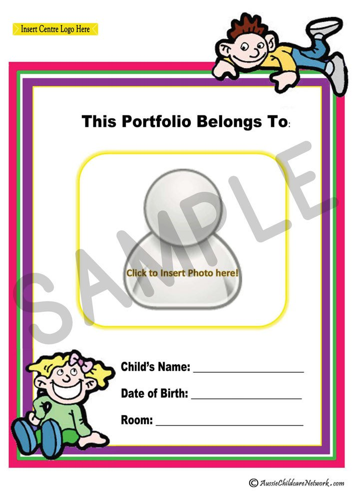 Portfolio Cover Pages Templates Portfolio Coverpage Aussie Childcare Network