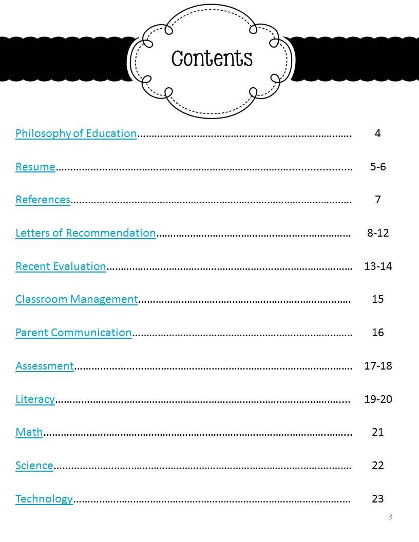 Portfolio Table Of Contents Template My Job Hunt Journey Part Two the Mini Portfolio