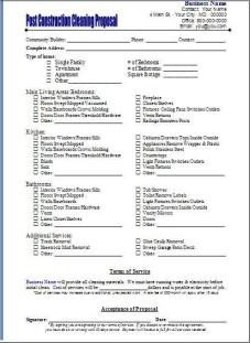 Post Construction Cleaning Proposal Template 10 Best Of Mercial Cleaning Services Proposal