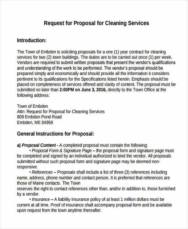 Post Construction Cleaning Proposal Template Cleaning Service Proposal Template 8 Free Word Pdf