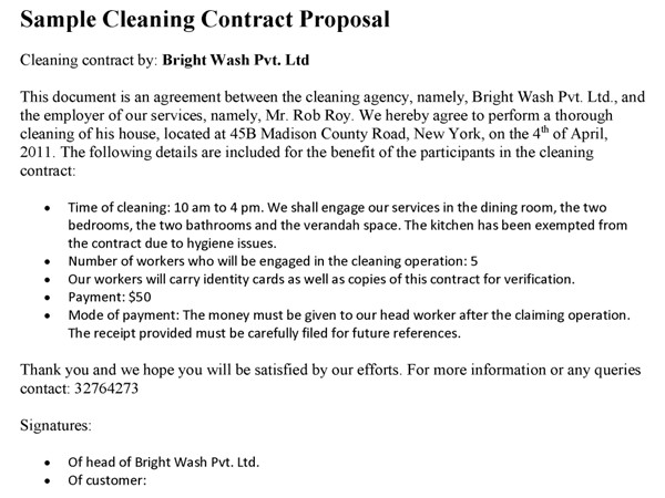 Post Construction Cleaning Proposal Template Post Construction Cleaning Proposal Template