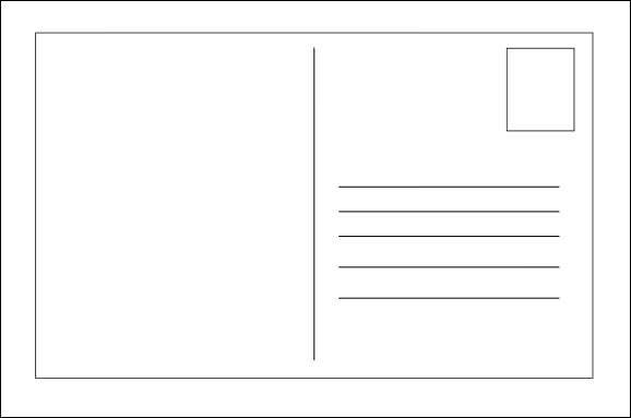 Postcard Template for Word 26 Printable Postcard Templates