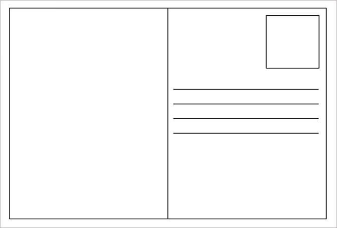 Postcard Template for Word 34 Blank Postcard Templates Psd Vector Eps Ai
