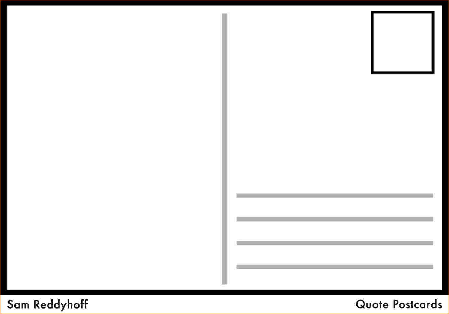 Postcard Template for Word 4 Postcard Template for Word