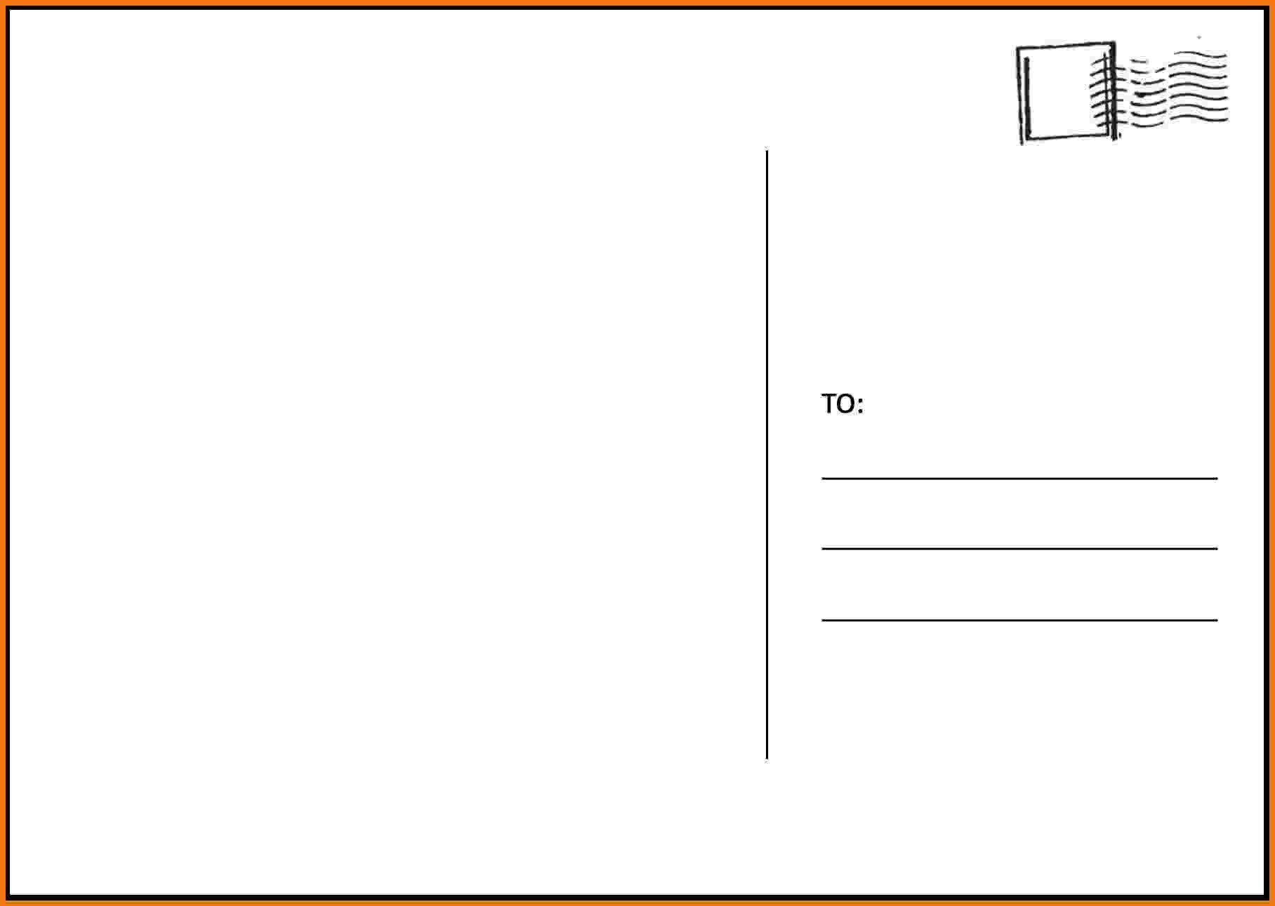 Postcard Template for Word Free Postcard Templates
