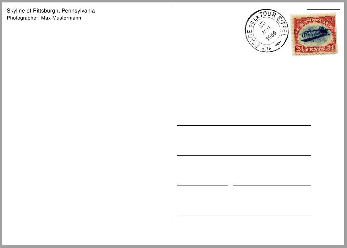 Postcard Template for Word Postcard Template Free