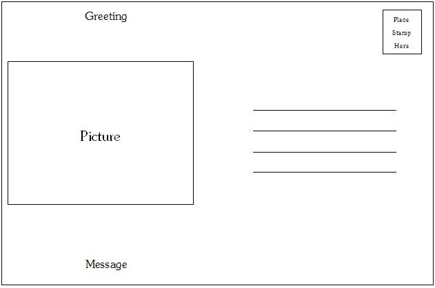 Postcard Template for Word Postcard Template Word