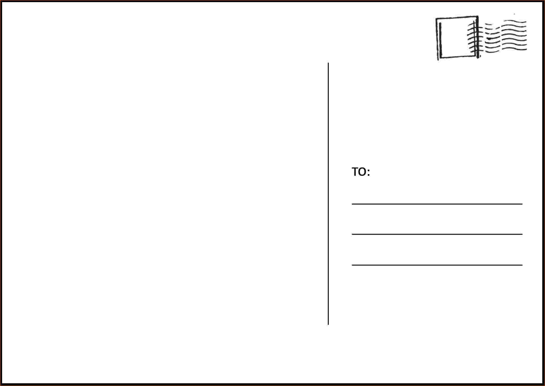 Postcard Templates for Word 4 Postcard Template for Word