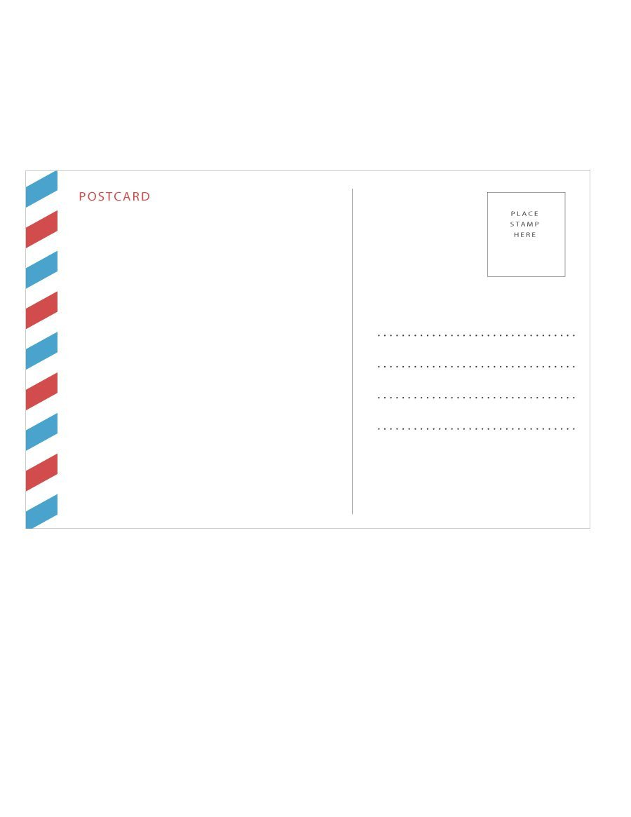 Postcard Templates for Word 40 Great Postcard Templates & Designs [word Pdf]