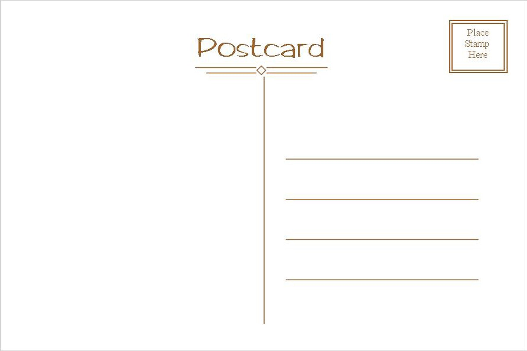 Postcard Templates for Word Balkans