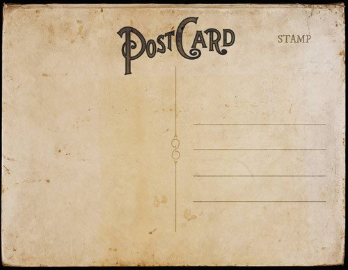 Postcard Templates for Word Vintage Postal Charm