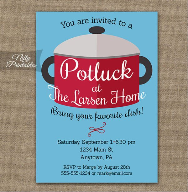 Potluck Email to Coworkers 10 Potluck Email Invitation Templates Design Templates