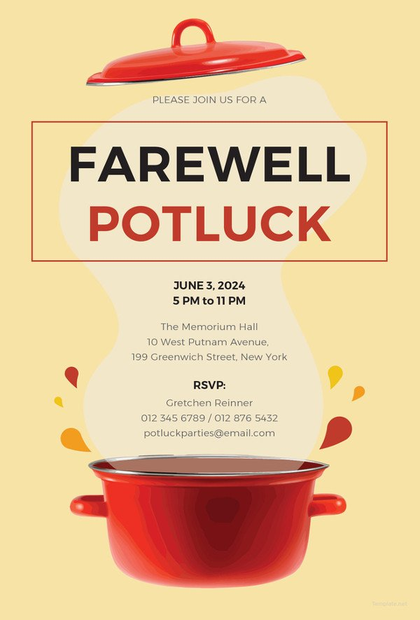 Potluck Email to Coworkers 10 Potluck Email Invitation Templates Psd Ai