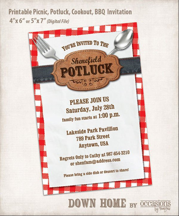 Potluck Email to Coworkers 13 Potluck Email Invitation Templates Psd Ai