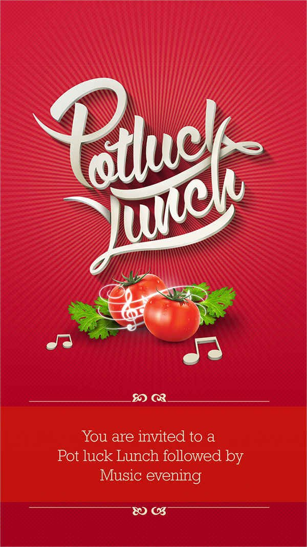 Potluck Email to Coworkers 39 Lunch Invitation Designs & Templates Psd Ai