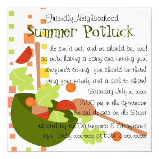Potluck Email to Coworkers Cute Potluck Invitation Wording