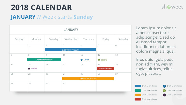 Power Point Calendar Templates 2018 Calendar Powerpoint Templates