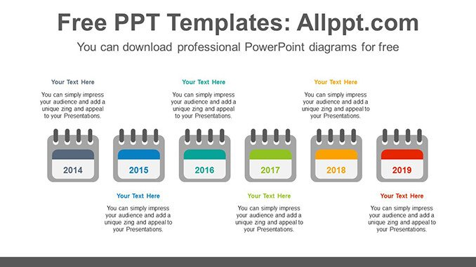 Power Point Calendar Templates 6 Calendars Powerpoint Diagram Template