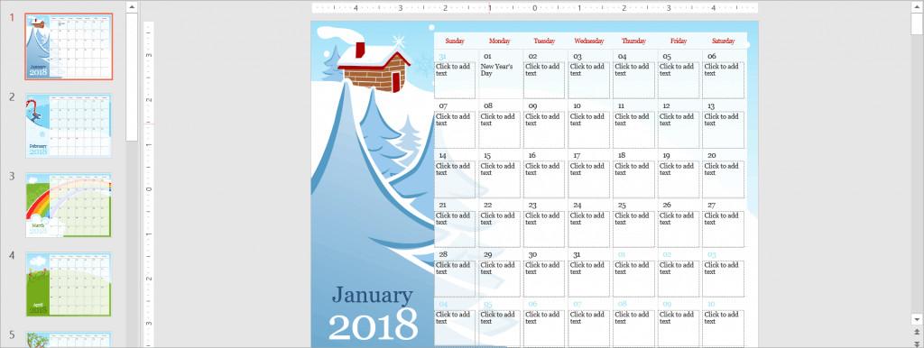 Power Point Calendar Templates Best Free Powerpoint Calendar Templates the Internet