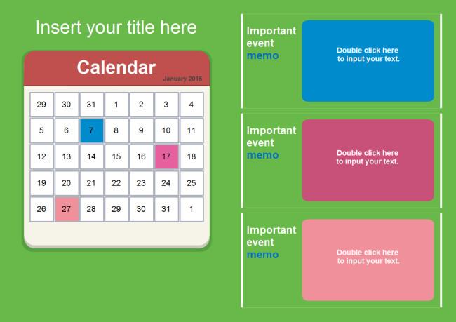 Power Point Calendar Templates Calendar Powerpoint