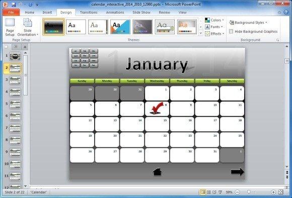 Power Point Calendar Templates Roadmap Powerpoint Template