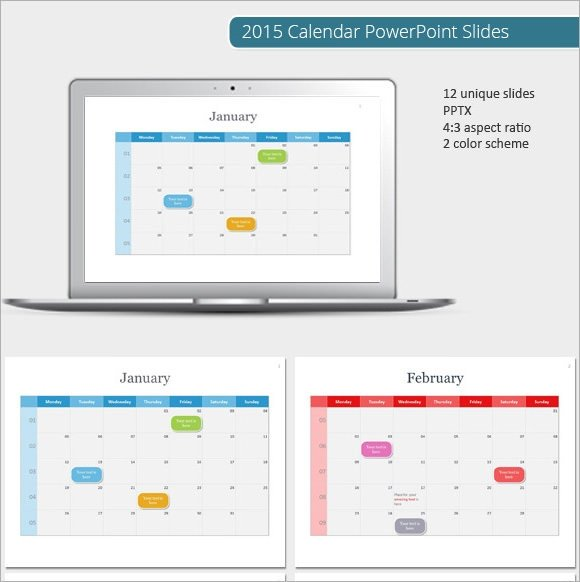 Power Point Calendar Templates Sample Powerpoint Calendar Template 7 Documents In Ppt Psd