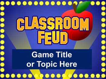 Powerpoint Game Show Templates Classroom Feud Powerpoint Template Plays Like Family