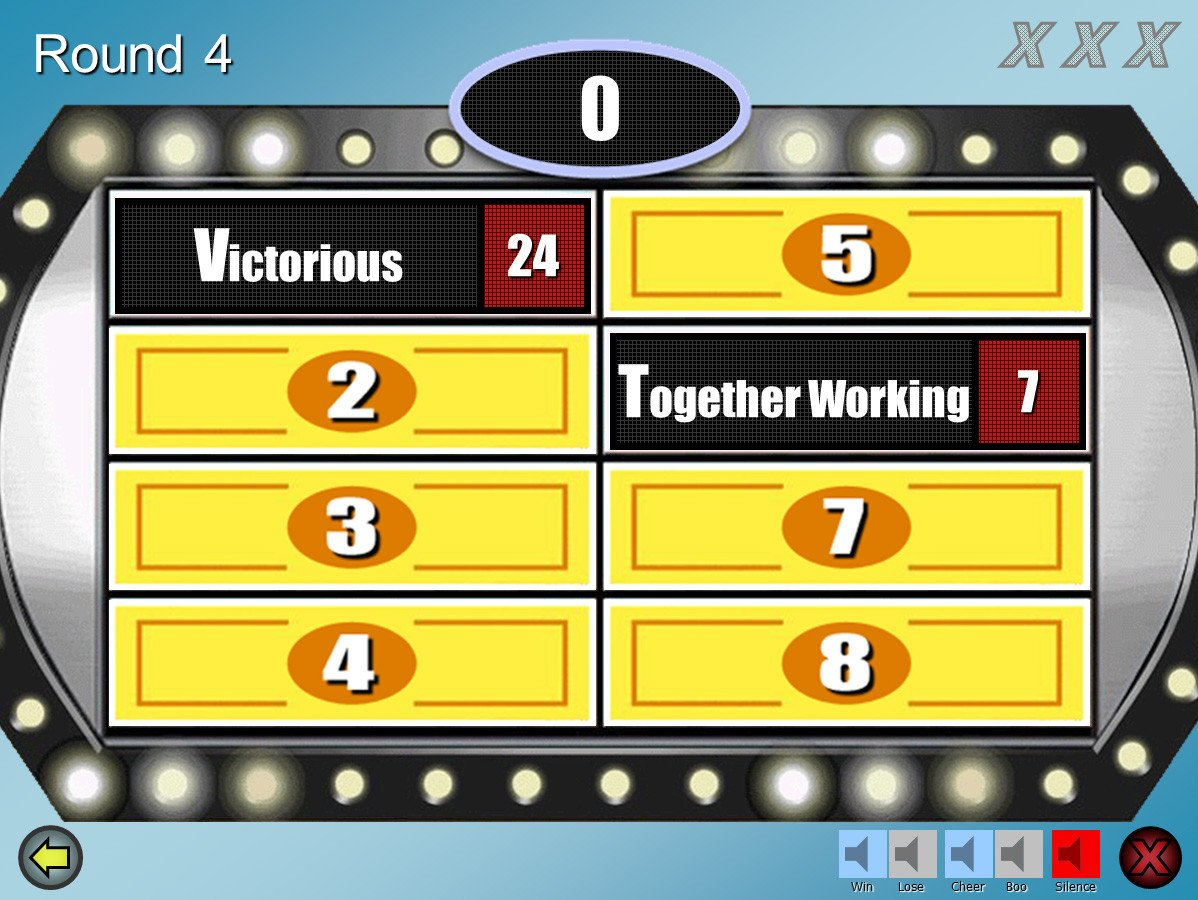 Powerpoint Game Show Templates Family Feud Customizable Powerpoint Template Youth