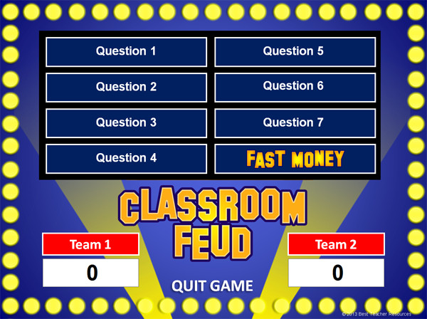 Powerpoint Game Show Templates Family Feud Powerpoint Game Template School