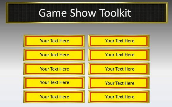 Powerpoint Game Show Templates Game Show toolkit for Powerpoint Presentations