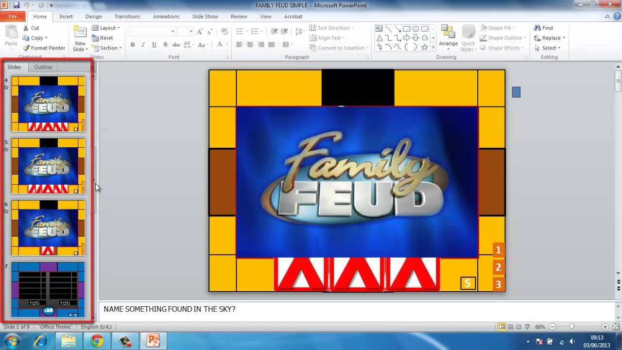 Powerpoint Game Show Templates How to Make Powerpoint Games Family Feud