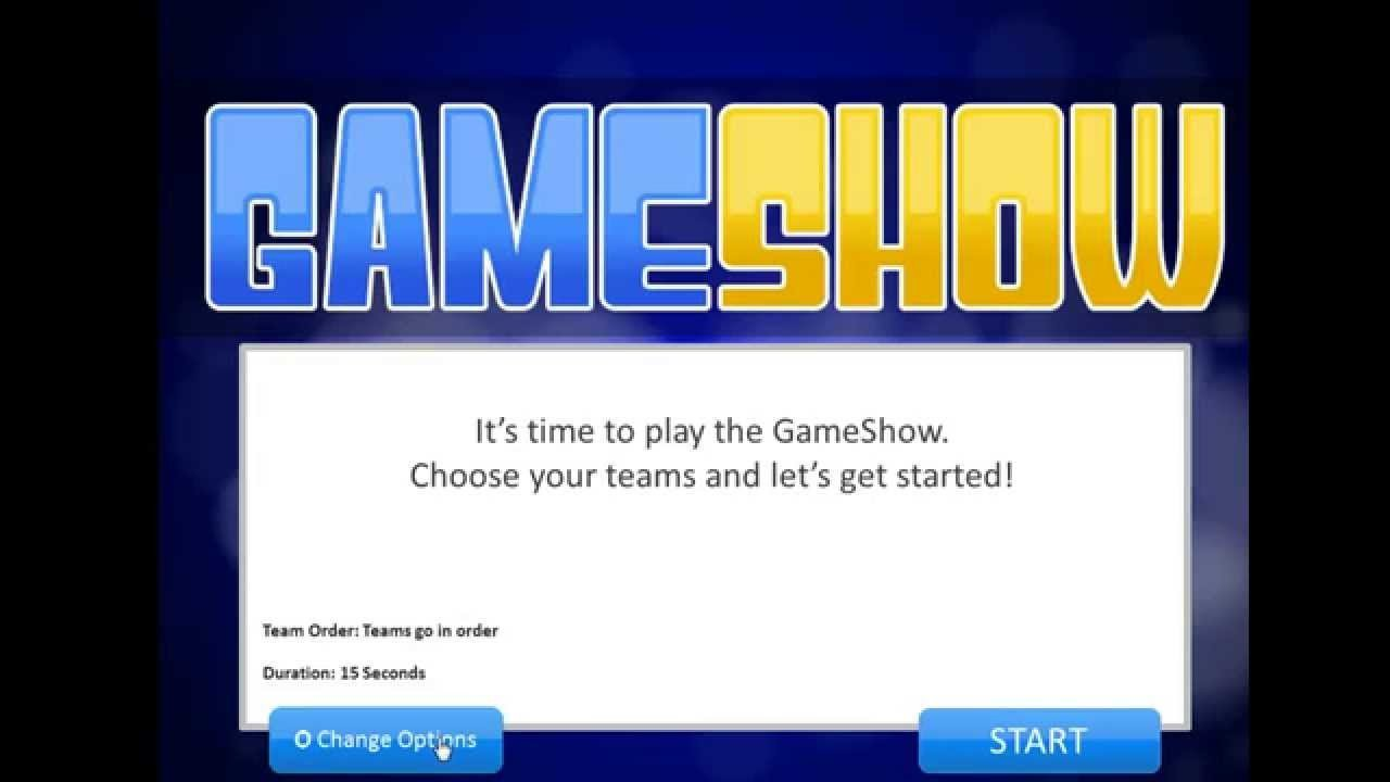 Powerpoint Game Show Templates Introduction to the Powerpoint Gameshow Template