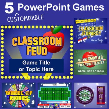 Powerpoint Game Show Templates Powerpoint Games Pack 5 Customizable Tv Game Show