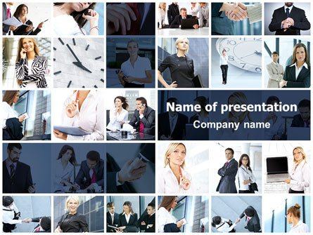 Powerpoint Photo Collage Template Fice Life Collage Powerpoint Template Backgrounds