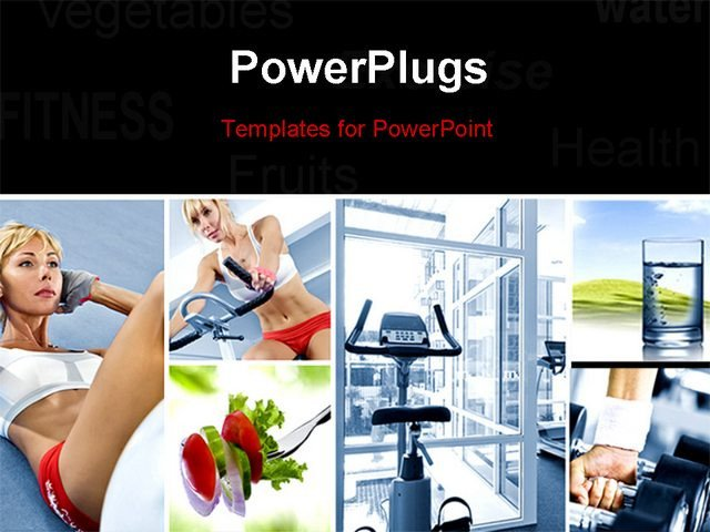 Powerpoint Photo Collage Template Healthy Lifestyle theme Collage Posed Of Different