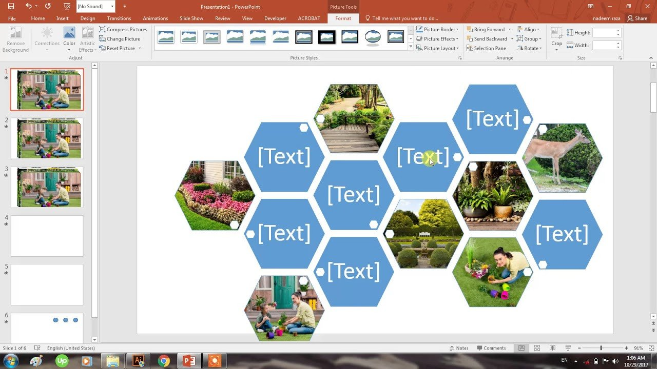 Powerpoint Photo Collage Template How to Create Collage Of S In Seconds In Powerpoint