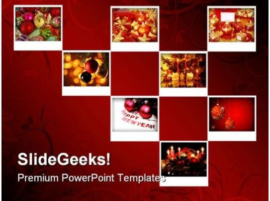 Powerpoint Photo Collage Template New Year Collage Holidays Powerpoint Template 1010