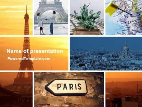 Powerpoint Photo Collage Template Paris In Collage Powerpoint Template by Poweredtemplate