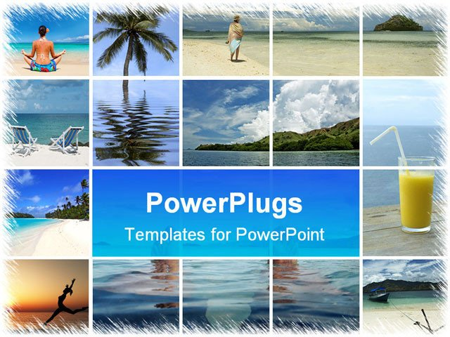 Powerpoint Photo Collage Template Powerpoint Template A Beautiful Depiction Of A Number Of