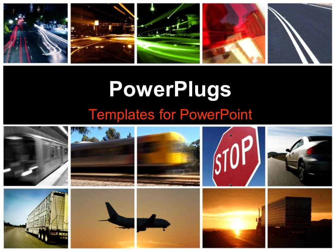 Powerpoint Photo Collage Template Powerpoint Template A Collage Depicting Different Modes