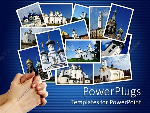 Powerpoint Photo Collage Template Powerpoint Template Collage Of Ancient orthodox Churches